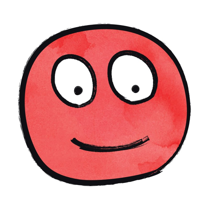 Smiley-Face - Red None  by Puttyhead's Artist Shop