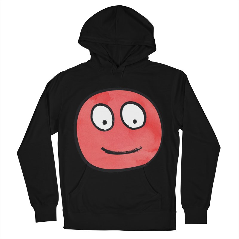 Smiley-Face - Red Women's Pullover Hoody by Puttyhead's Artist Shop