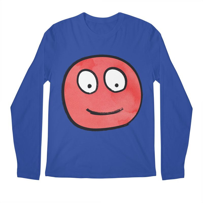 Smiley-Face - Red Men's Longsleeve T-Shirt by Puttyhead's Artist Shop