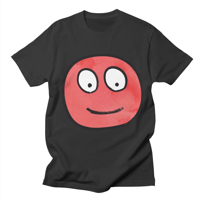 Smiley-Face - Red Women's Unisex T-Shirt by Puttyhead's Artist Shop