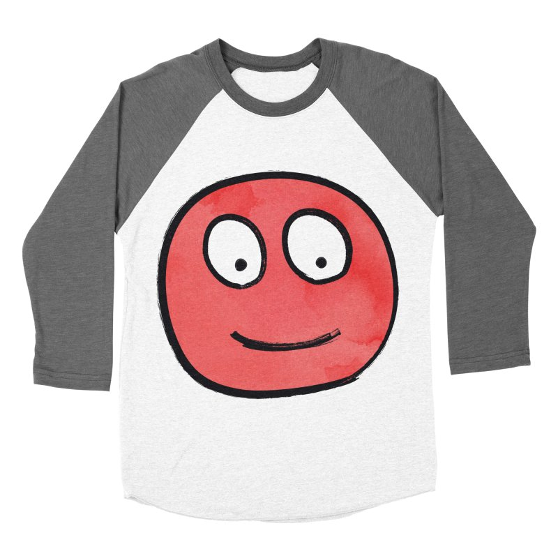 Smiley-Face - Red Women's Baseball Triblend T-Shirt by Puttyhead's Artist Shop
