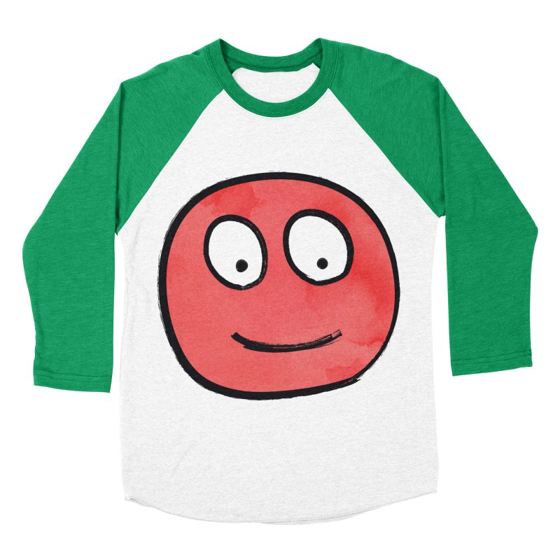 Smiley-Face - Red Men's Baseball Triblend T-Shirt by Puttyhead's Artist Shop