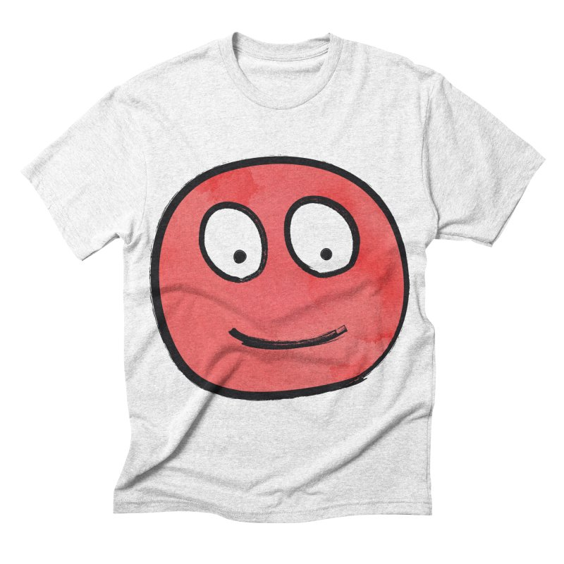 Smiley-Face - Red Men's Triblend T-shirt by Puttyhead's Artist Shop