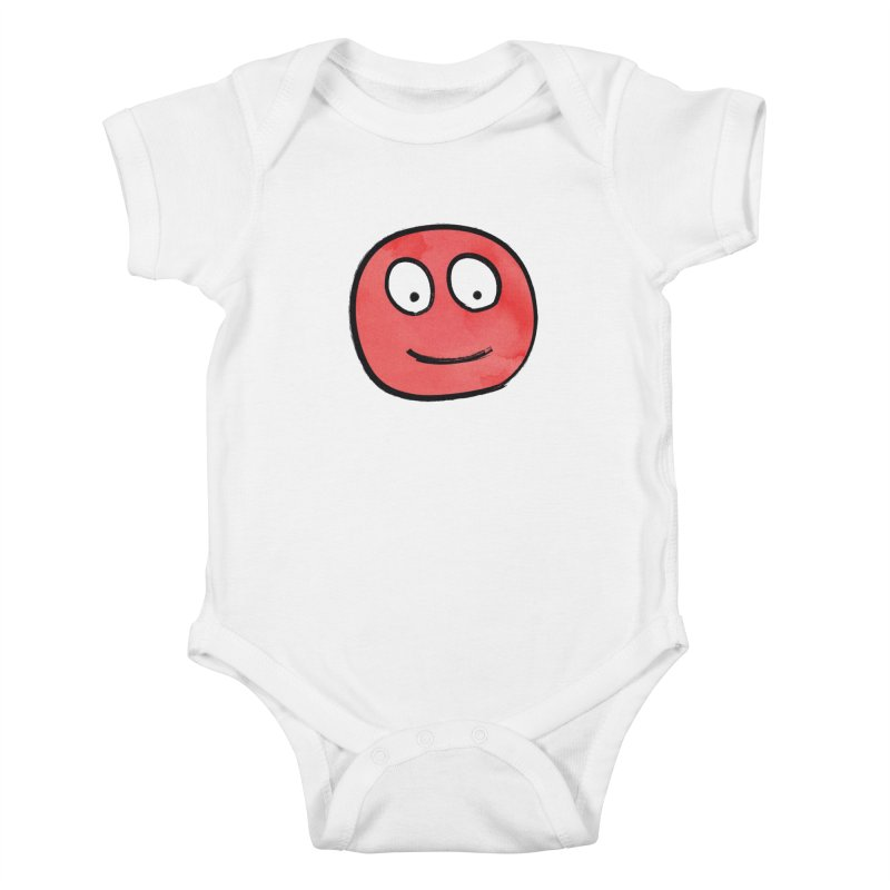 Smiley-Face - Red Kids Baby Bodysuit by Puttyhead's Artist Shop