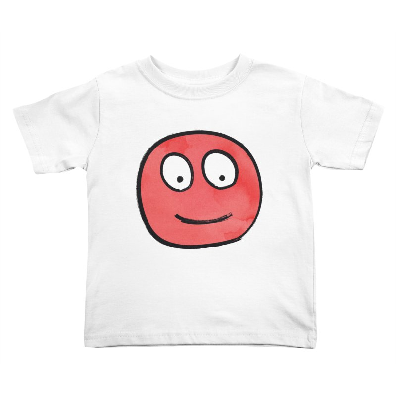 Smiley-Face - Red Kids Toddler T-Shirt by Puttyhead's Artist Shop