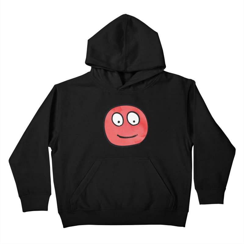 Smiley-Face - Red Kids Pullover Hoody by Puttyhead's Artist Shop