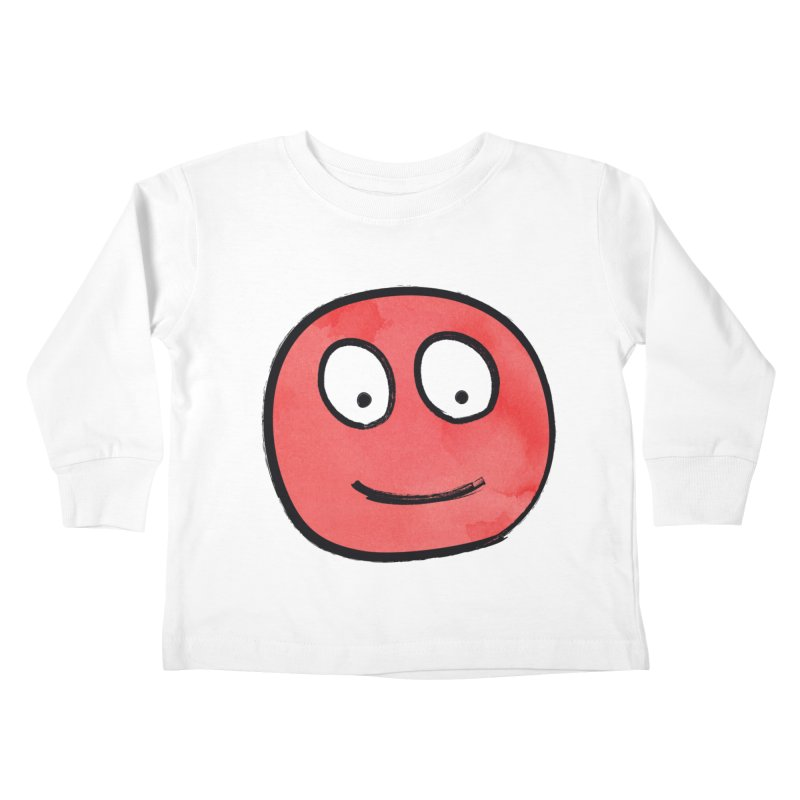 Smiley-Face - Red Kids Toddler Longsleeve T-Shirt by Puttyhead's Artist Shop