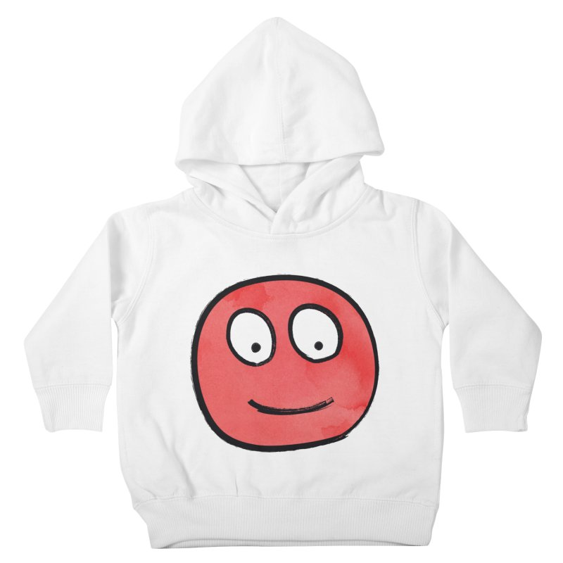 Smiley-Face - Red Kids Toddler Pullover Hoody by Puttyhead's Artist Shop