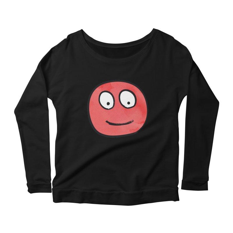 Smiley-Face - Red Women's Longsleeve Scoopneck  by Puttyhead's Artist Shop