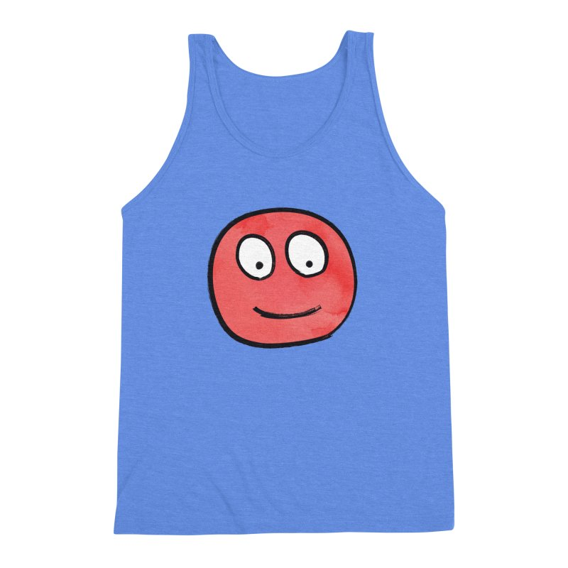 Smiley-Face - Red Men's Triblend Tank by Puttyhead's Artist Shop