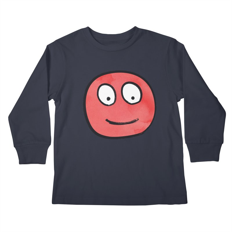 Smiley-Face - Red Kids Longsleeve T-Shirt by Puttyhead's Artist Shop