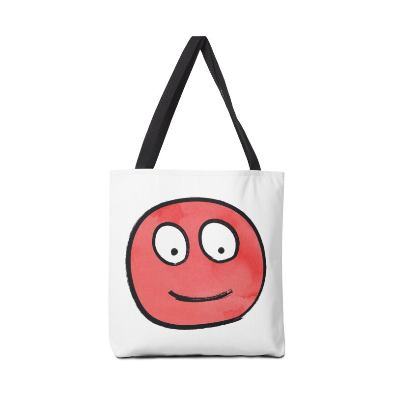 Smiley-Face - Red Accessories Bag by Puttyhead's Artist Shop