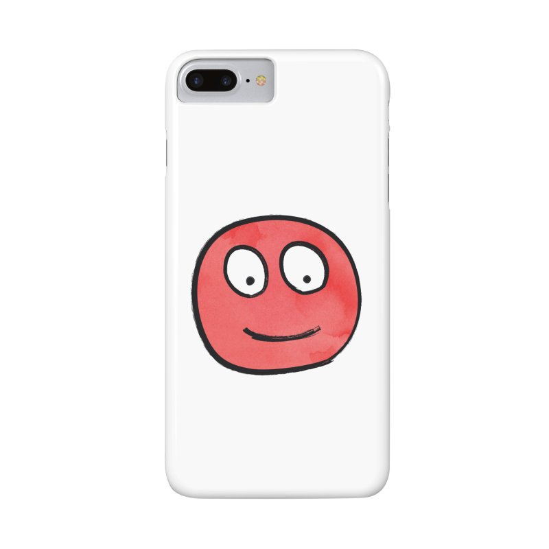Smiley-Face - Red Accessories Phone Case by Puttyhead's Artist Shop