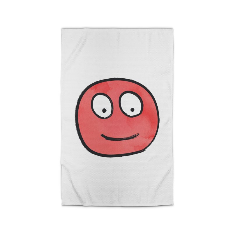 Smiley-Face - Red Home Rug by Puttyhead's Artist Shop