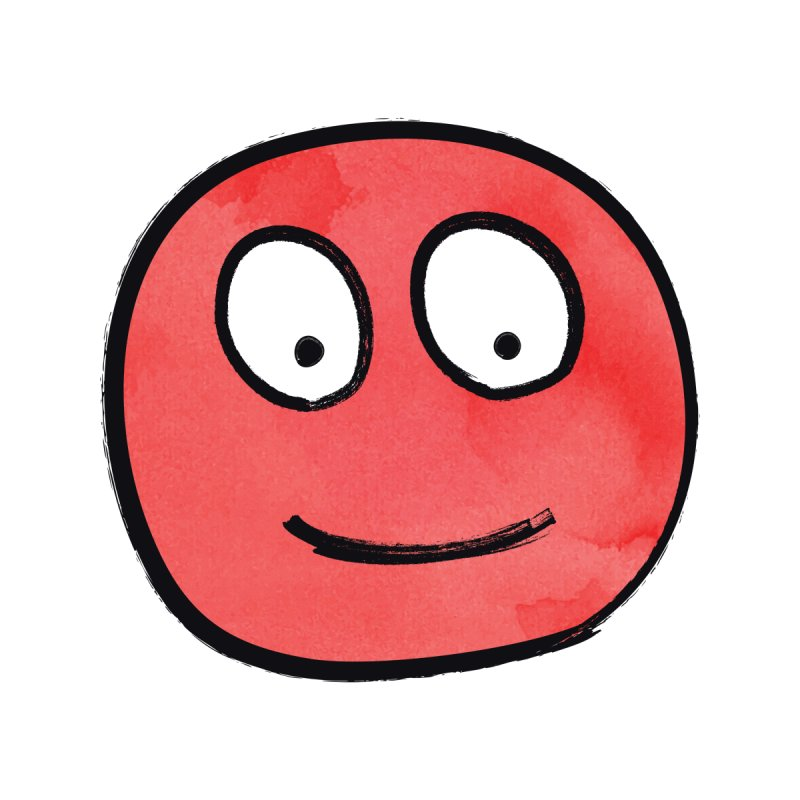 Smiley-Face - Red by Puttyhead's Artist Shop