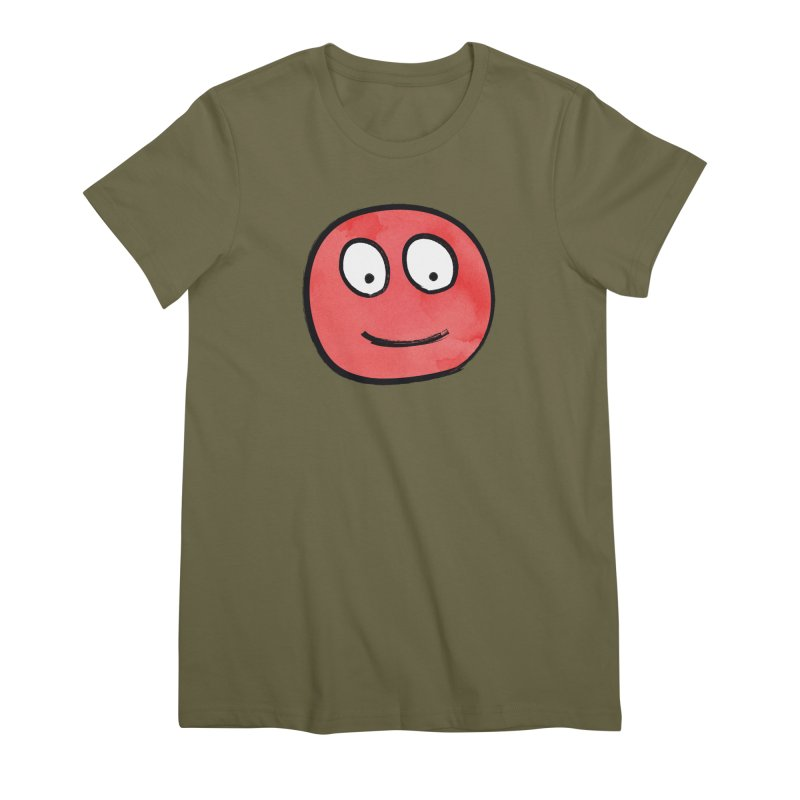 Smiley-Face - Red Women's Premium T-Shirt by Puttyhead's Artist Shop