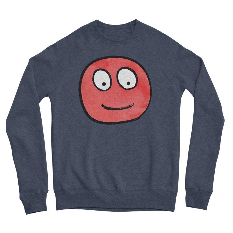 Smiley-Face - Red Women's Sponge Fleece Sweatshirt by Puttyhead's Artist Shop