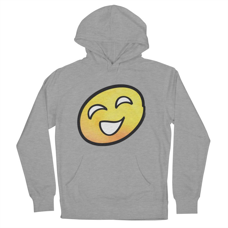 Smiley-Face - Yellow Women's Pullover Hoody by Puttyhead's Artist Shop