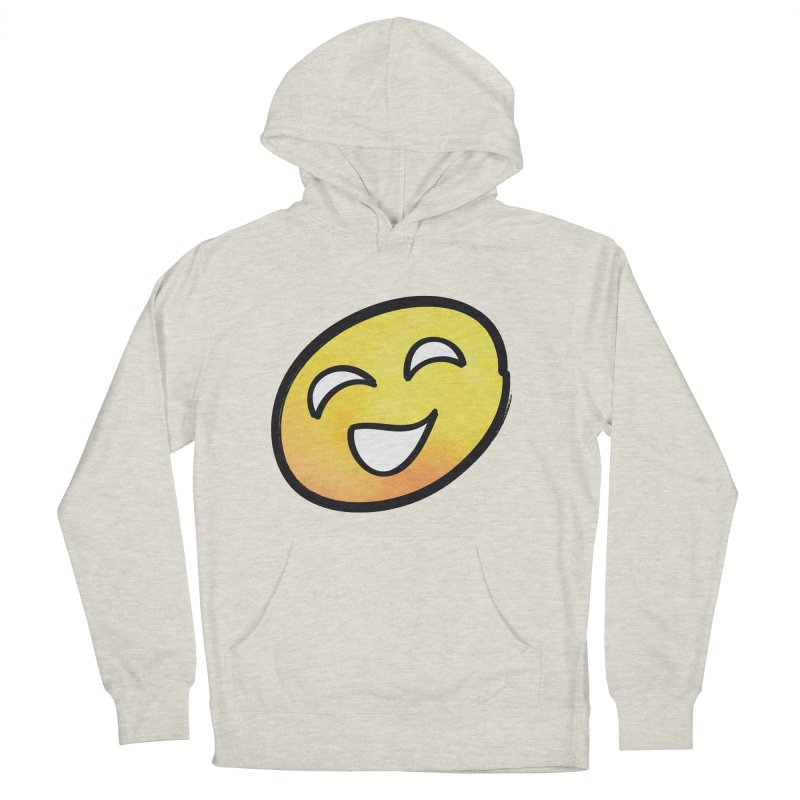 Smiley-Face - Yellow Men's Pullover Hoody by Puttyhead's Artist Shop