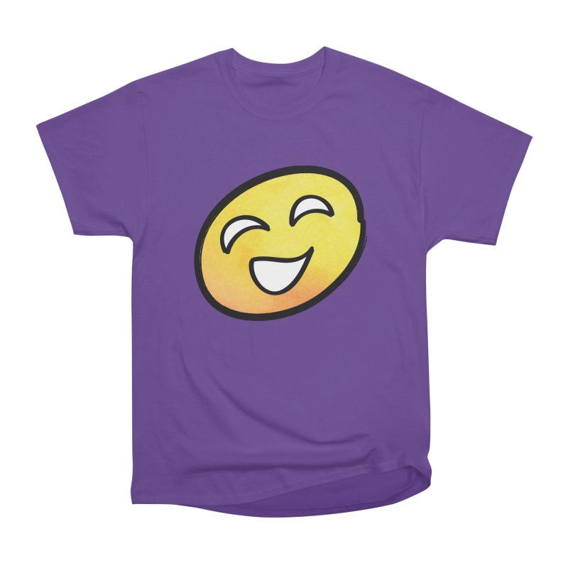 Smiley-Face - Yellow Women's Classic Unisex T-Shirt by Puttyhead's Artist Shop