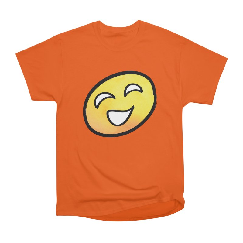Smiley-Face - Yellow Men's Classic T-Shirt by Puttyhead's Artist Shop