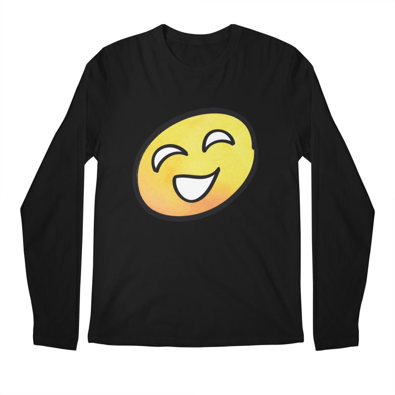 Smiley-Face - Yellow Men's Longsleeve T-Shirt by Puttyhead's Artist Shop