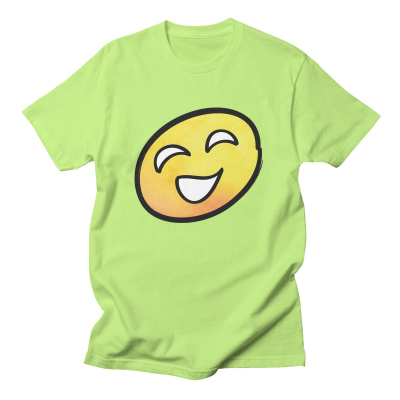 Smiley-Face - Yellow Women's Unisex T-Shirt by Puttyhead's Artist Shop