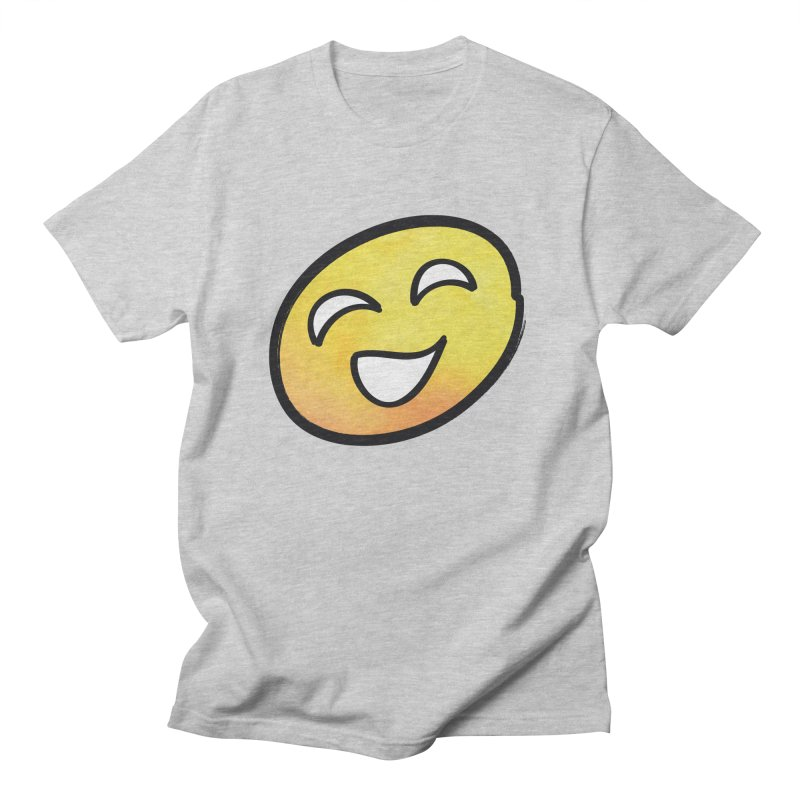 Smiley-Face - Yellow Men's T-shirt by Puttyhead's Artist Shop