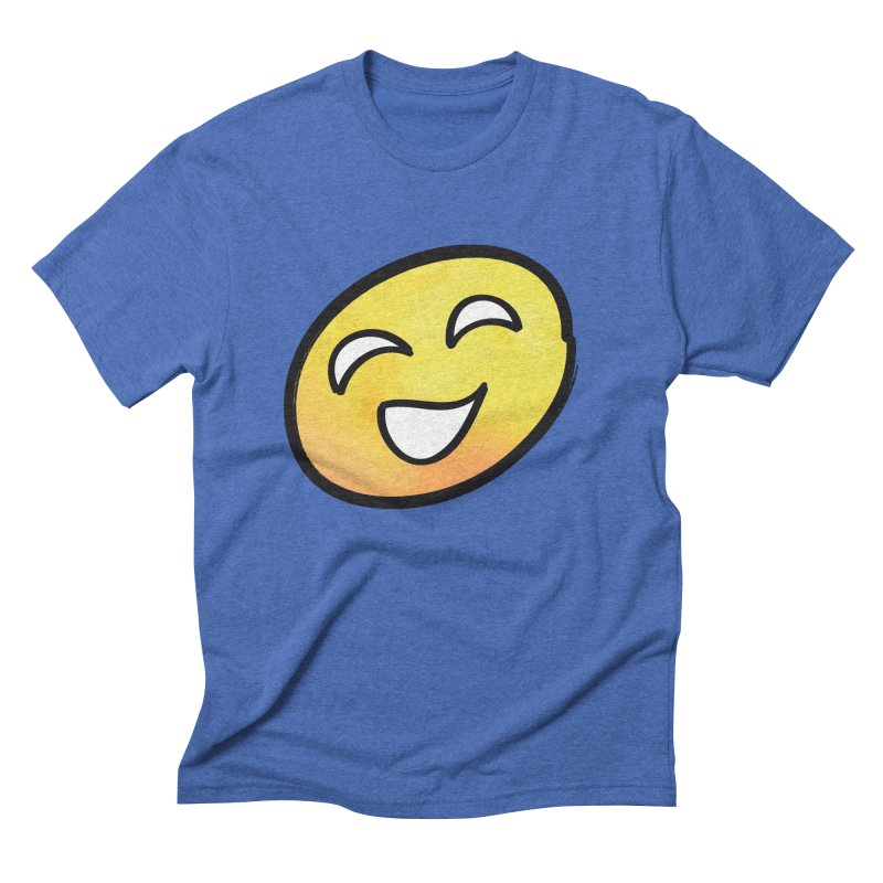 Smiley-Face - Yellow Men's Triblend T-shirt by Puttyhead's Artist Shop