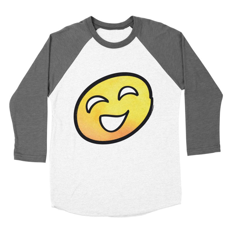 Smiley-Face - Yellow Women's Baseball Triblend T-Shirt by Puttyhead's Artist Shop