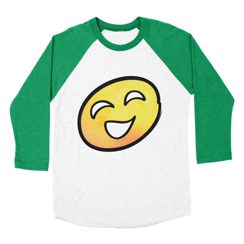 Smiley-Face - Yellow Women's Baseball Triblend T-Shirt by Puttyhead's Artist Shop
