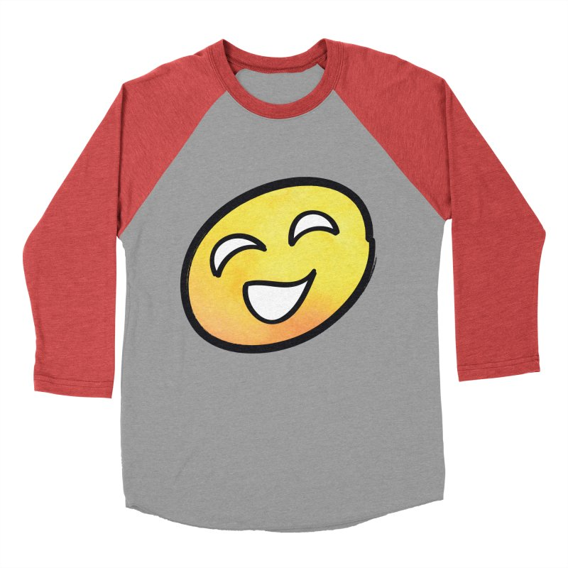 Smiley-Face - Yellow Men's Baseball Triblend T-Shirt by Puttyhead's Artist Shop