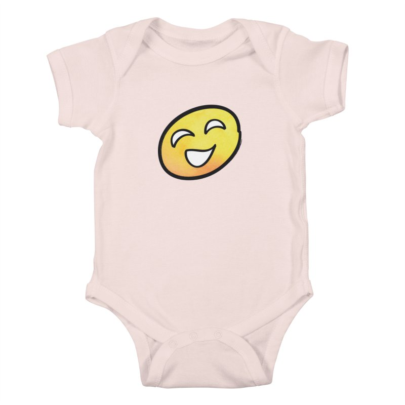 Smiley-Face - Yellow Kids Baby Bodysuit by Puttyhead's Artist Shop