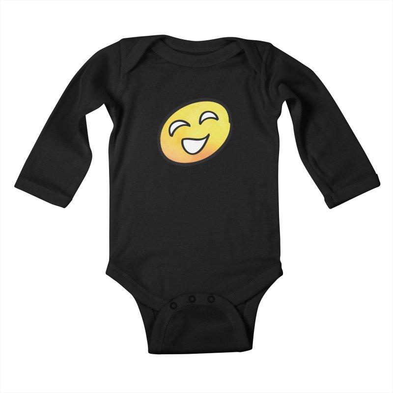 Smiley-Face - Yellow Kids Baby Longsleeve Bodysuit by Puttyhead's Artist Shop