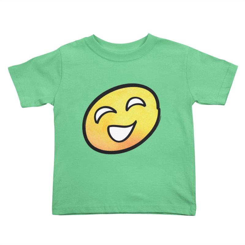 Smiley-Face - Yellow Kids Toddler T-Shirt by Puttyhead's Artist Shop