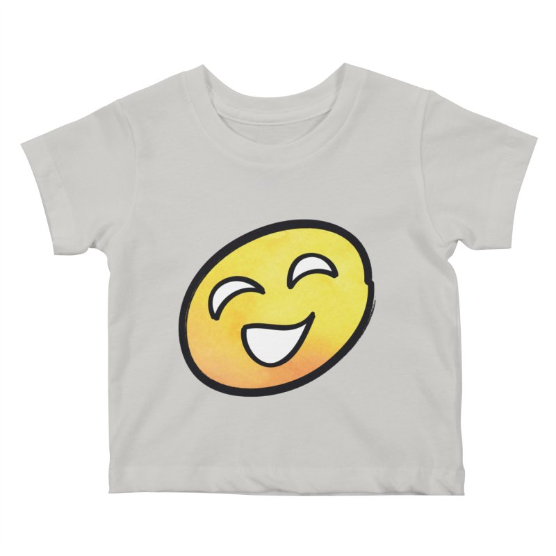 Smiley-Face - Yellow Kids Baby T-Shirt by Puttyhead's Artist Shop