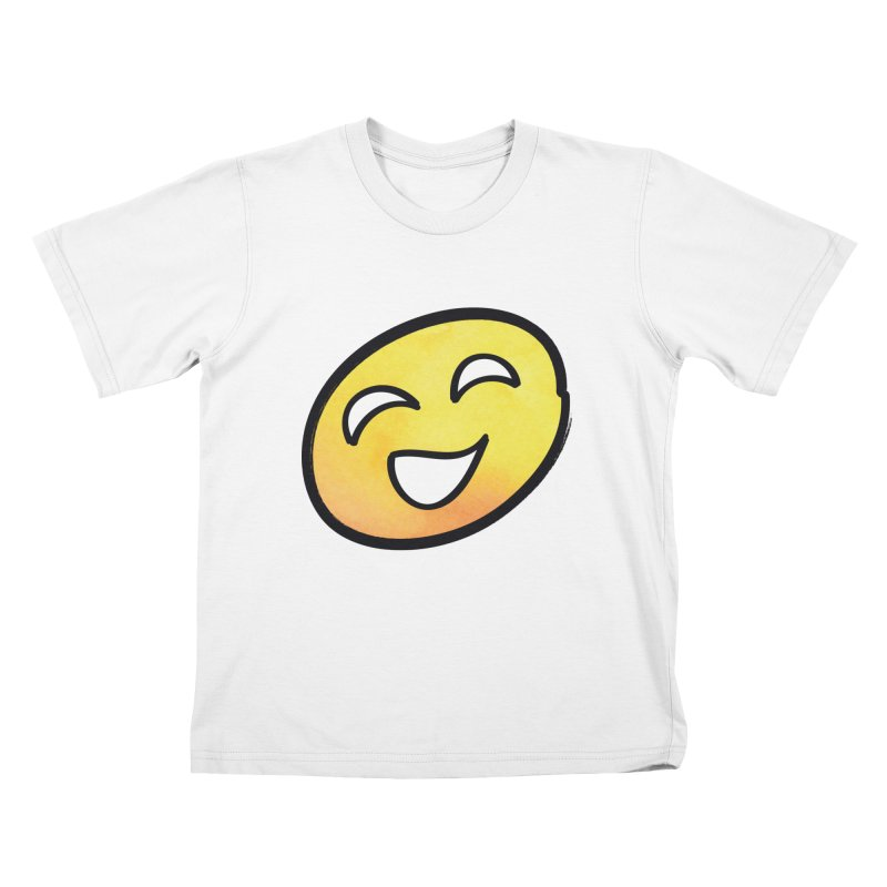 Smiley-Face - Yellow Kids T-shirt by Puttyhead's Artist Shop