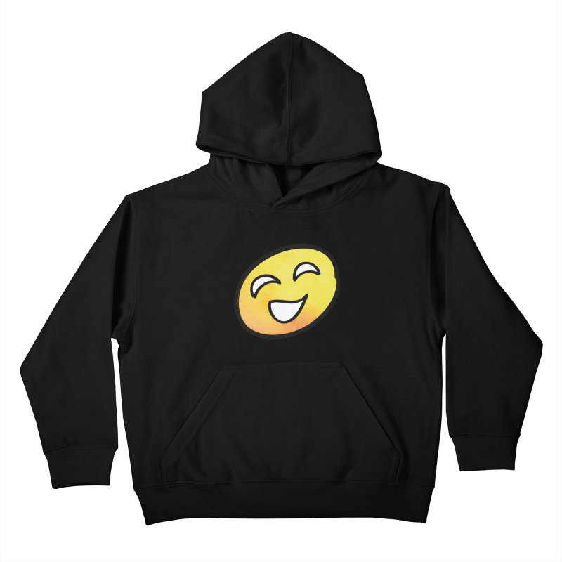 Smiley-Face - Yellow Kids Pullover Hoody by Puttyhead's Artist Shop