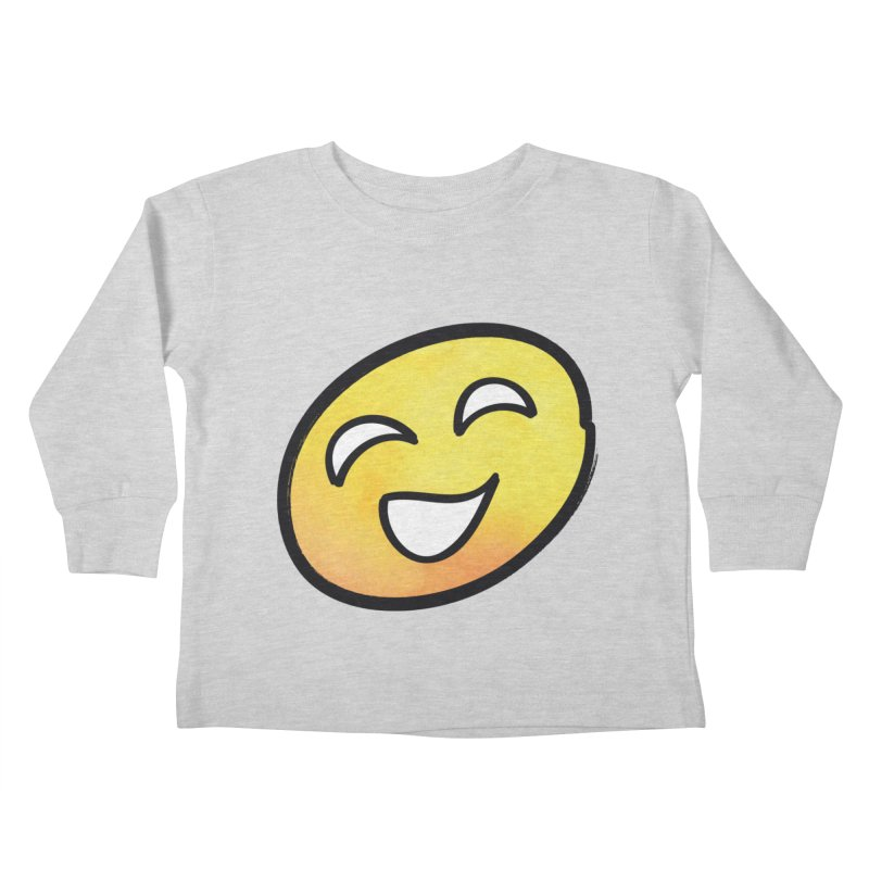 Smiley-Face - Yellow Kids Toddler Longsleeve T-Shirt by Puttyhead's Artist Shop