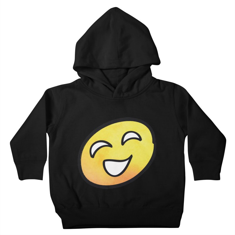 Smiley-Face - Yellow Kids Toddler Pullover Hoody by Puttyhead's Artist Shop