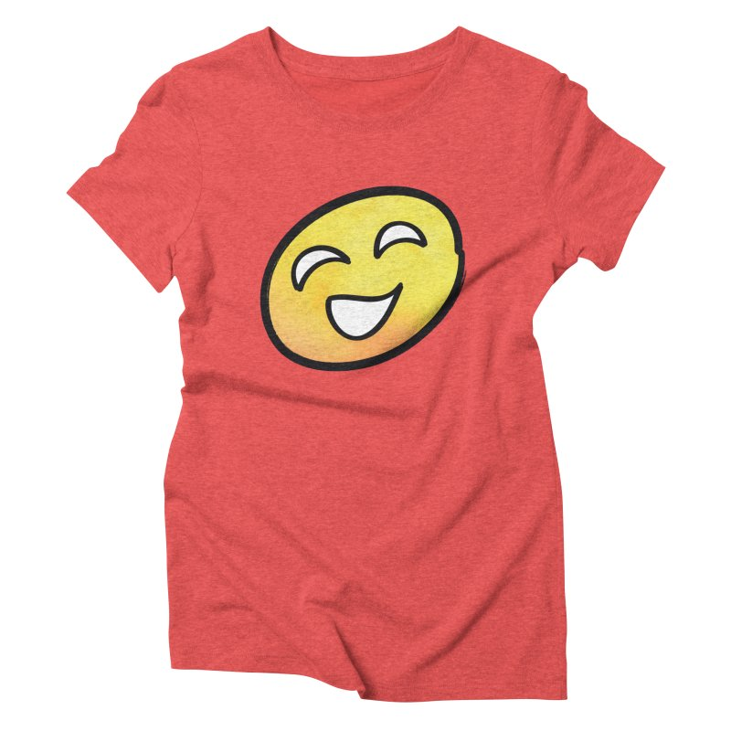 Smiley-Face - Yellow Women's Triblend T-shirt by Puttyhead's Artist Shop