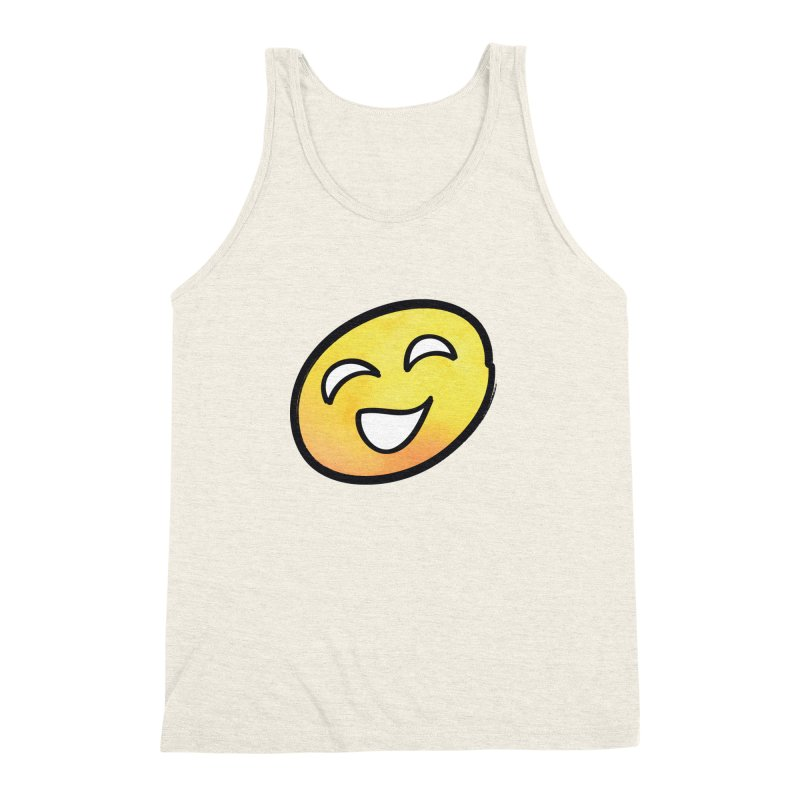 Smiley-Face - Yellow Men's Triblend Tank by Puttyhead's Artist Shop