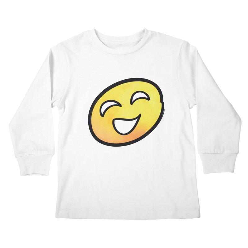 Smiley-Face - Yellow Kids Longsleeve T-Shirt by Puttyhead's Artist Shop