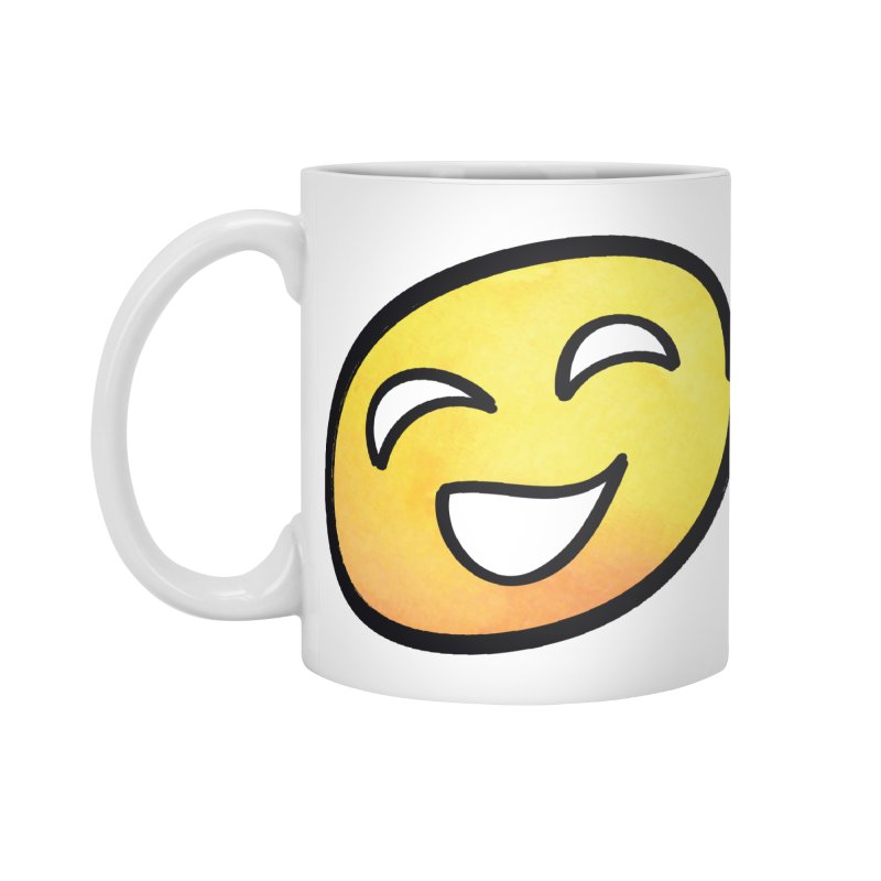 Smiley-Face - Yellow Accessories Mug by Puttyhead's Artist Shop