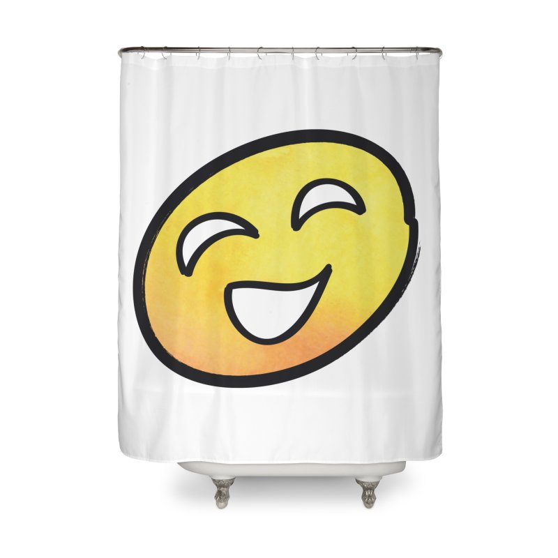 Smiley-Face - Yellow Home Shower Curtain by Puttyhead's Artist Shop