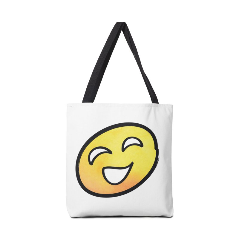 Smiley-Face - Yellow Accessories Bag by Puttyhead's Artist Shop