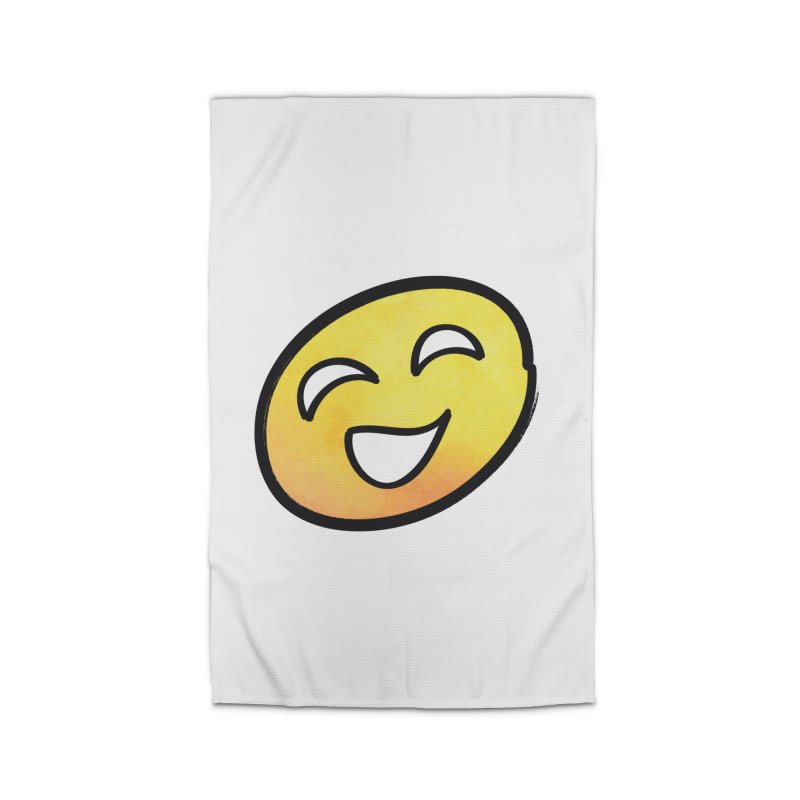 Smiley-Face - Yellow Home Rug by Puttyhead's Artist Shop