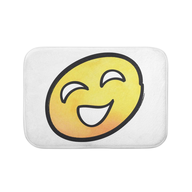 Smiley-Face - Yellow Home Bath Mat by Puttyhead's Artist Shop