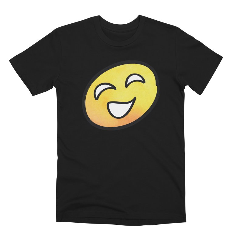 Smiley-Face - Yellow Men's Premium T-Shirt by Puttyhead's Artist Shop