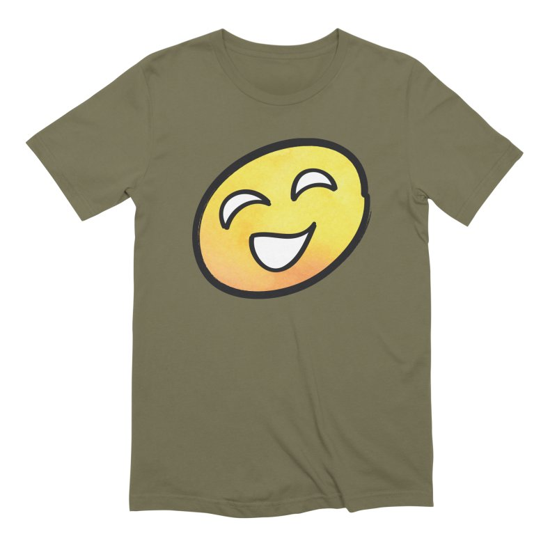Smiley-Face - Yellow Men's Extra Soft T-Shirt by Puttyhead's Artist Shop
